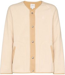 gramicci boa v-neck fleece jacket - neutrals