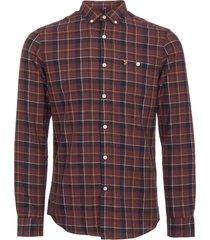 farah red oldman check twill shirt f4wf50l9-626