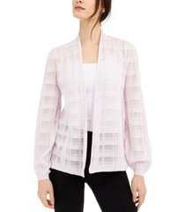 alfani petite illusion plaid cardigan, created for macy's