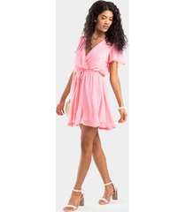 amelia godet dress - pink