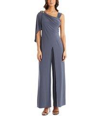 r & m richards one-shoulder embellished jumpsuit