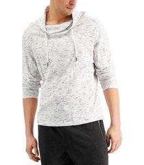 inc men's regular-fit textured cowl-neck sweatshirt, created for macy's