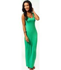petite zanderige maxi jurk met lage ronde hals, bright green