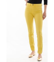 pantalón amarillo entubado para mujer 97374-0cl
