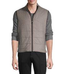 corneliani men's reversible quilted virgin-wool vest - beige - size 56 (46)
