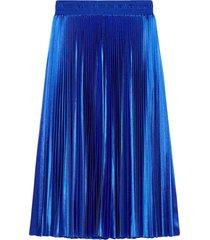 balenciaga tracksuit pleated mid-length skirt - blue