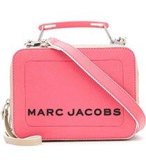 marc jacobs bolsa the colorblock textured mini - rosa