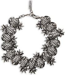saint laurent pineapple link bracelet, size medium in silver at nordstrom