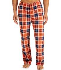 club room men's plaid fleece pajama pants, created for macy's