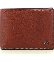 piquadro mens brown wallet