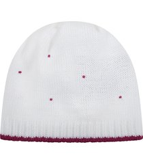 little bear white hat for babygirl with polka-dots