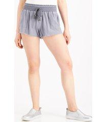 rewash juniors' smocked-waist frayed-hem shorts