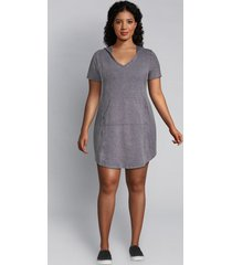 lane bryant women's livi french terry hoodie dress - mineral wash 18/20 night sky