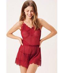 playsuit joge camisola curta vermelho - vermelho - feminino - dafiti