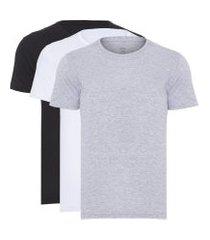 kit t-shirt masculina pima berlim - branco