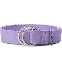 ganni double ring buckle belt - purple
