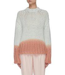 dip dye effect chunky knit sweater