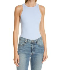 alix nyc austin racerback ribbed bodysuit, size large in periwinkle at nordstrom