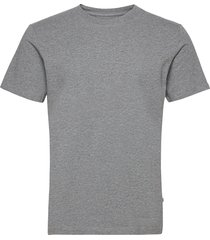 slhnorman180 ss o-neck tee s noos t-shirts short-sleeved grå selected homme