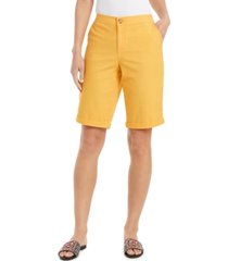 style & co cuffed bermuda shorts, created for macy's