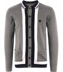 gabicci vintage finsen knitted cardigan - grey v42gm11