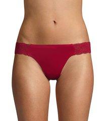 ava & aiden women's stretch lace-trimmed bikini - nude - size xxl