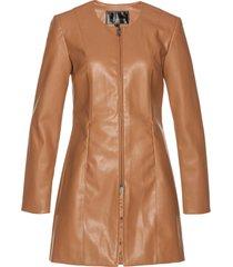 blazer lungo in similpelle (marrone) - bpc selection