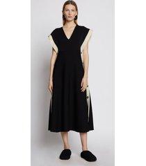 proenza schouler doubleface cotton dress black m