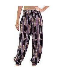 cotton harem pants, 'colorful jaspe night' (guatemala)