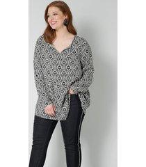 blouse sara lindholm offwhite::zwart