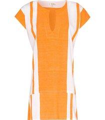lemlem zoya striped tunic - orange