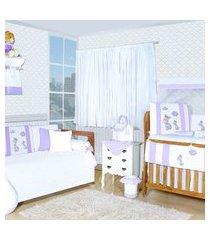 quarto completo padroeira baby girafinha roxo