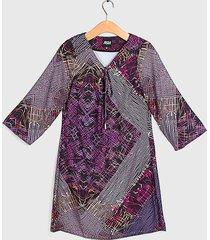 vestido ash fantasía túnica multicolor - calce regular