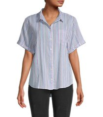 madewell women's chronicle striped shirt - summer multicolor - size l