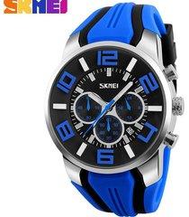 reloj de cuarzo impermeable deportivo al aire libre-azul