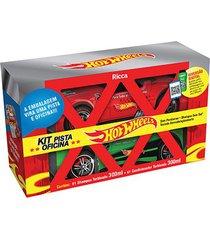 kit ricca hot wheels pista oficina shampoo 300ml + condicionador 300ml