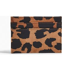 mens multi leopard print card holder
