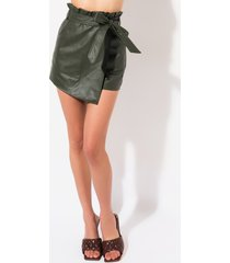 akira on the go pleather skort
