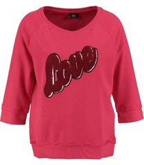 only boatneck sweater 3/4 mouw jalapeno red