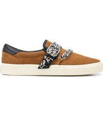amiri bandana chain slip-on sneakers - brown