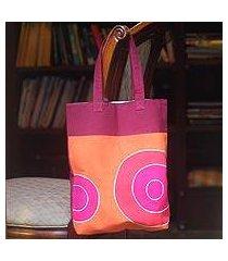 cotton handbag, 'orange zest' (thailand)