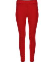 leggings cremallera en costado color rojo, talla 10