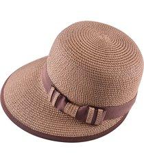donna estate bowknot wide brim floppy cappello di paglia protezione solare  bohemia beach cap b610b17c0d99