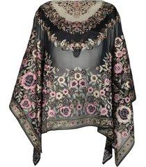 etro viscose and silk blouse