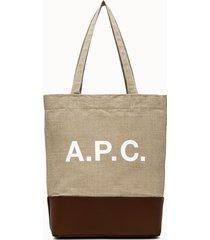 a.p.c. shopper axelle beige marrone