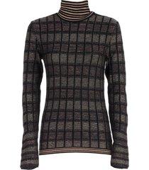 antonio marras sweater l/s turtle neck check lurex