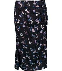 black printed vanity skirt