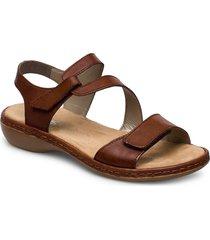 659c7-00 shoes summer shoes flat sandals brun rieker