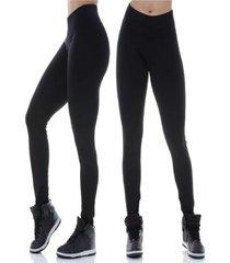 calã‡a legging com infravermelho longo modeladora anti-celulite e estrias - preto - feminino - poliamida - dafiti