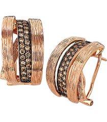 chocolatier® 14k strawberry gold® & chocolate diamonds® hoop earrings